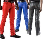 Men's leather pants Basic black