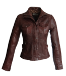 ALICIA Damen Lederjacke Lamm Nappa, ox blood