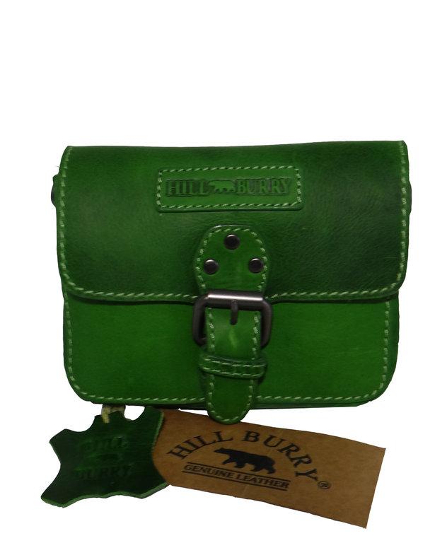 d0c94e2a2af1b Hill Burry Ledertasche,Vintage,Gürteltasche grün Umhängetasche !!