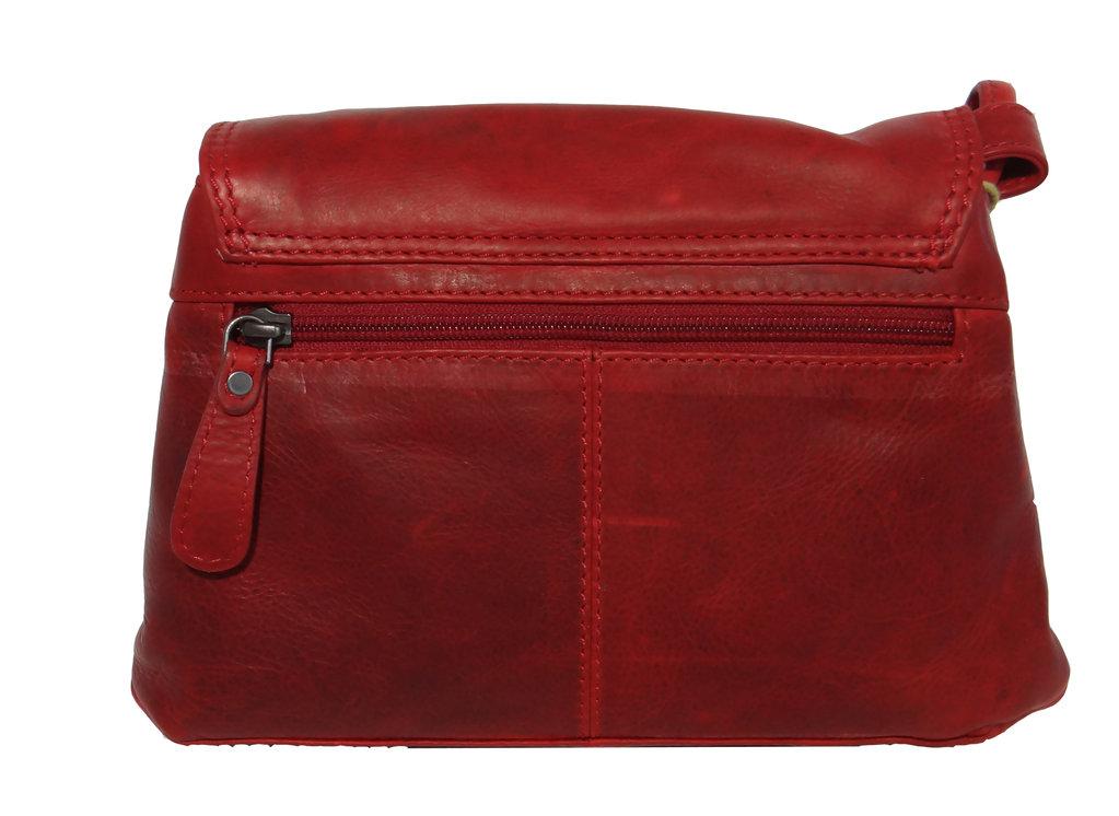 Ausgefallene Hill Burry Tasche Leder Vintage Handtasche Rot Neu
