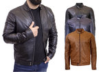 RICANO Johnson Men's Leather Jacket in various colours