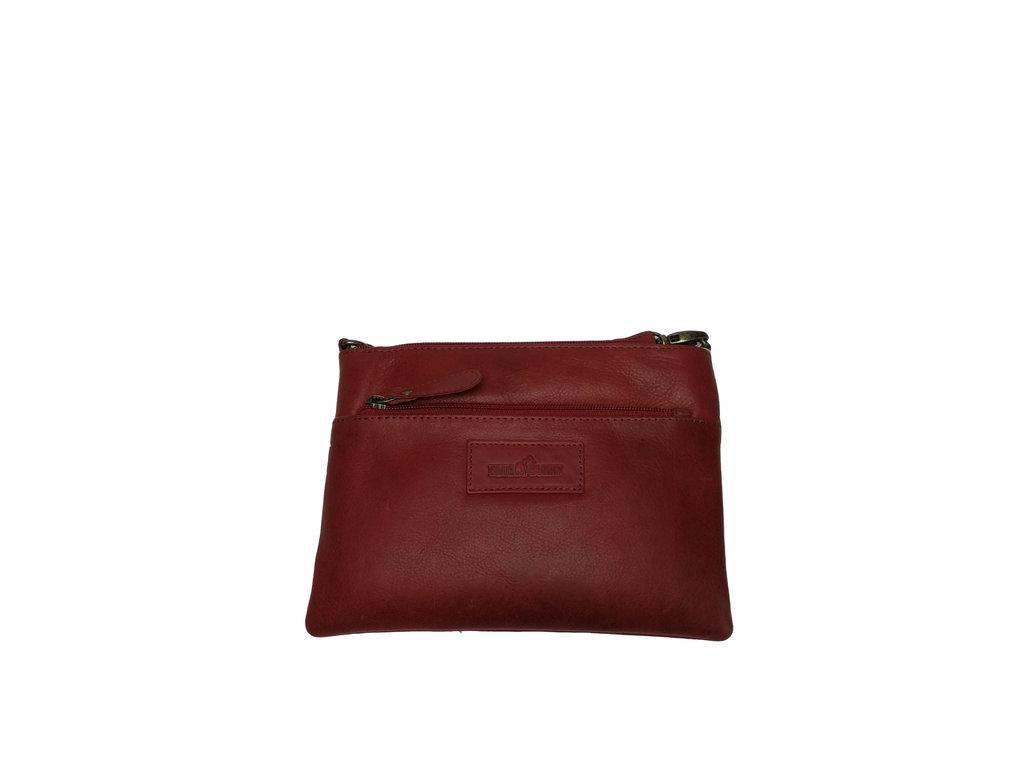 Ausgefallene Blue Burry Tasche Leder Vintage Handtasche Rot Neu